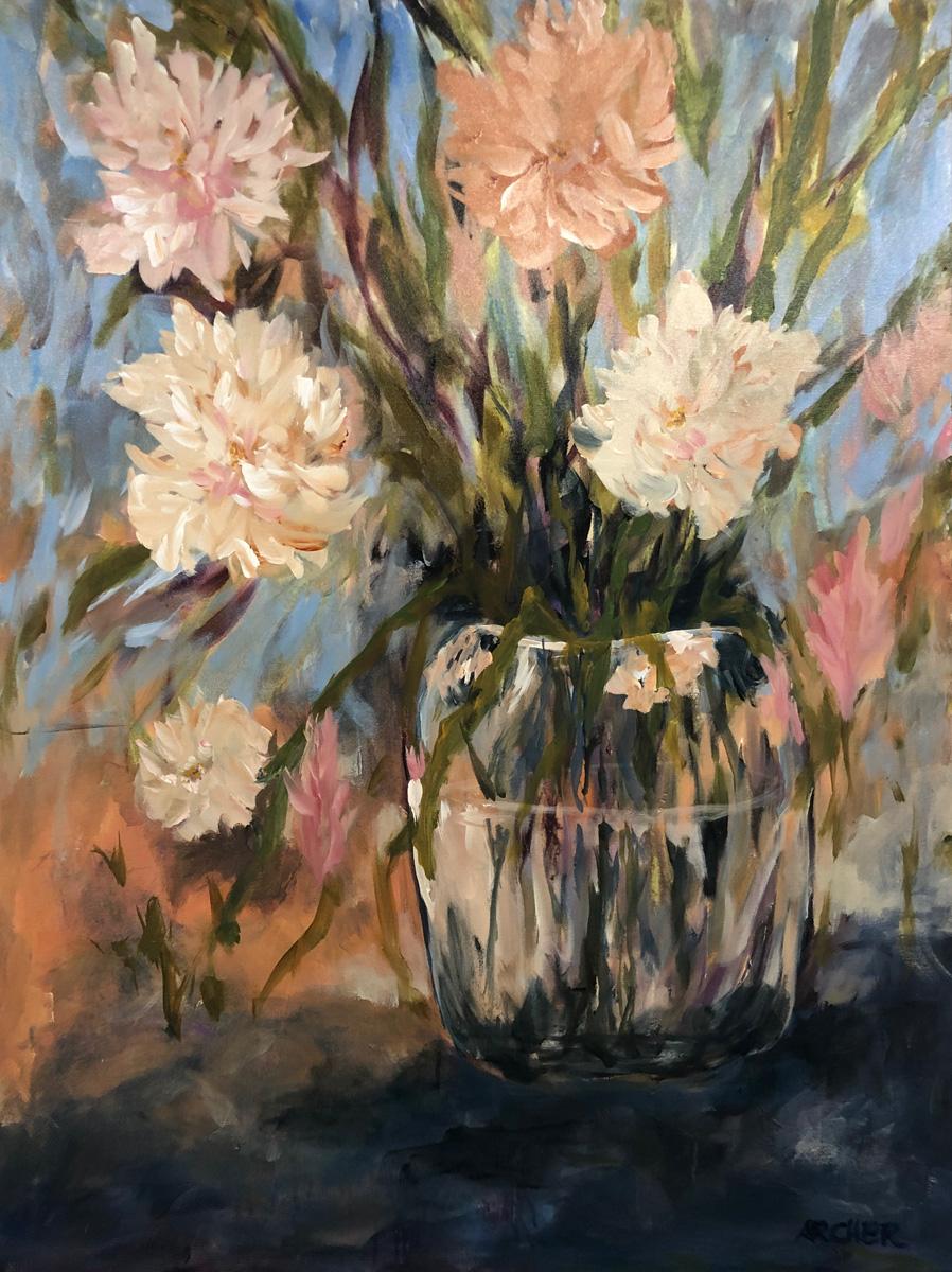 Glass Vase by John Archer