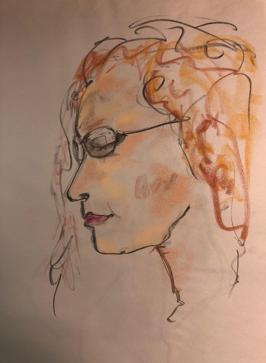 Glasses Girl by John Archer