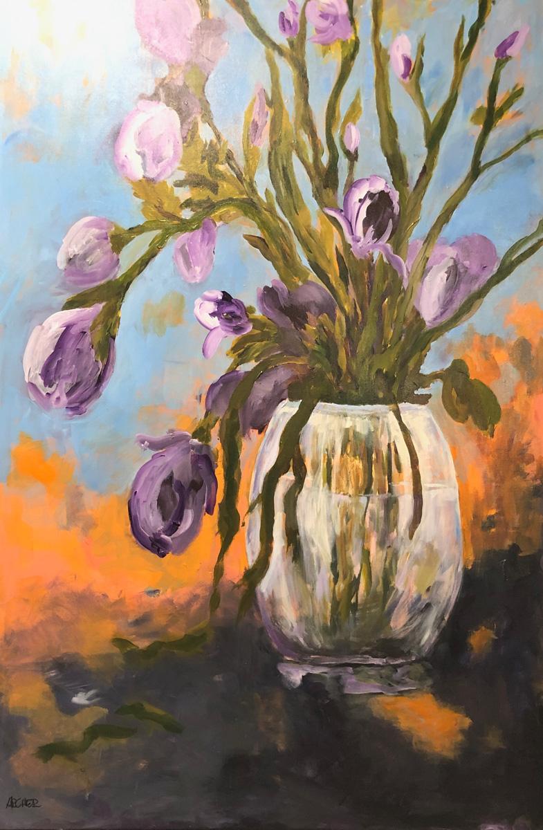 Hot Iris by John Archer