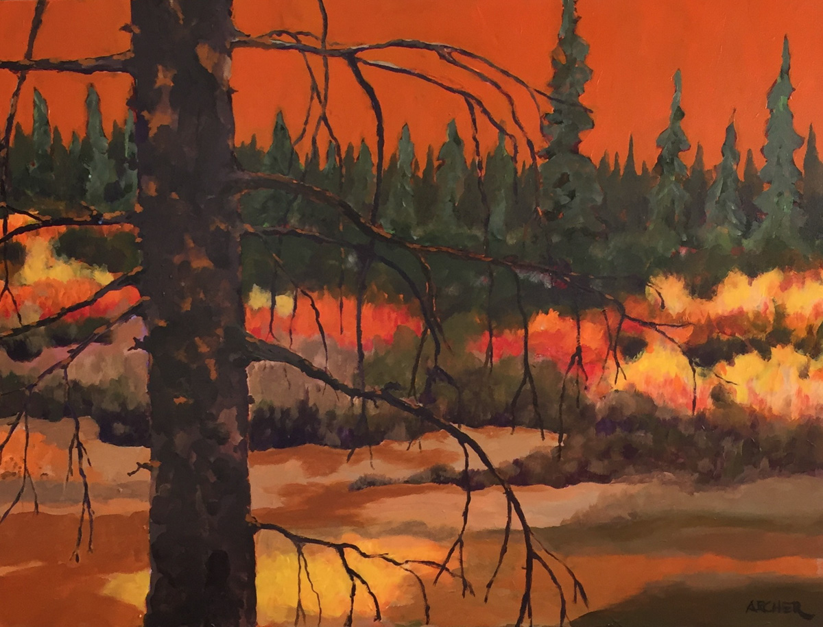 Dead Pine Trunk No. 1 by John Archer