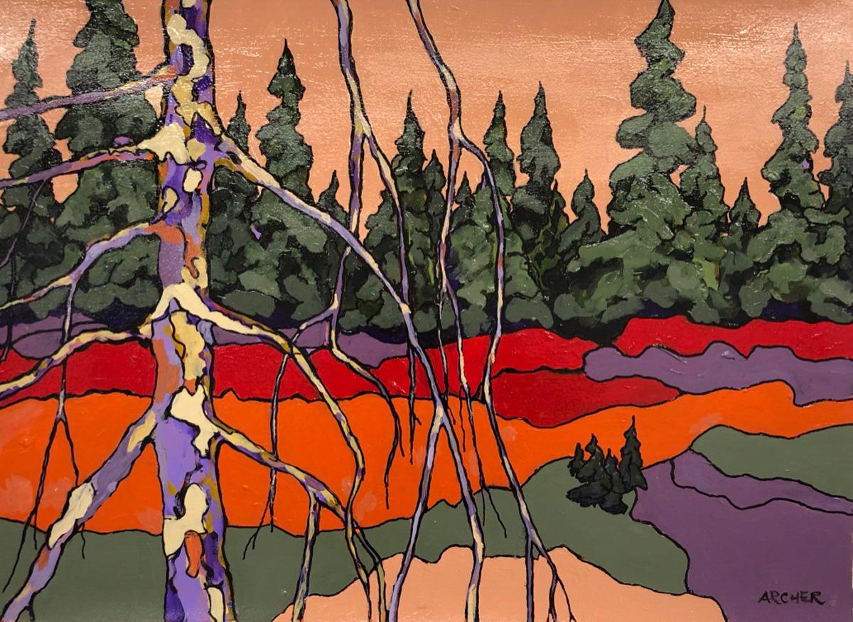 Dead Pine Trunk No. 3 by John Archer