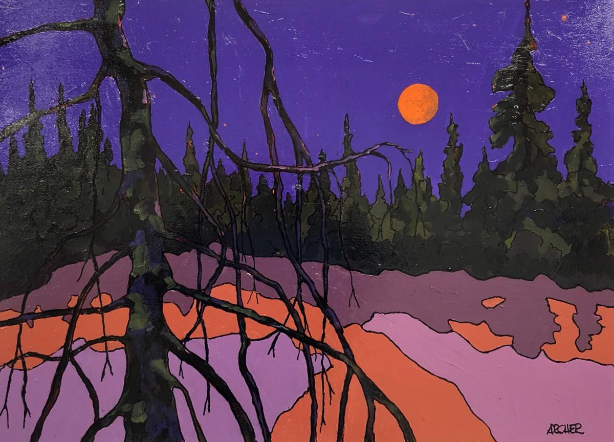 Dead Pine Trunk No. 4 by John Archer