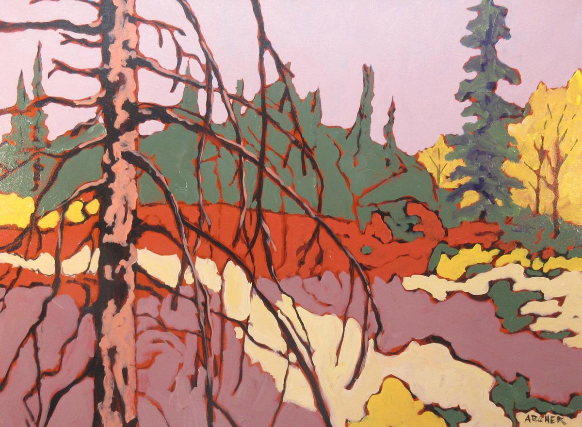 Dead Pine Trunk No. 5 by John Archer